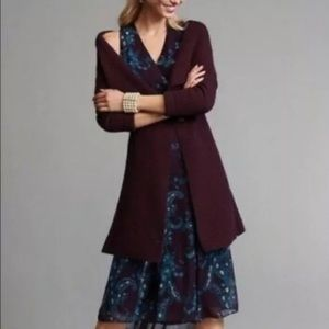 CAbi Regal Long Cardigan Mulberry Wine Medium 3350